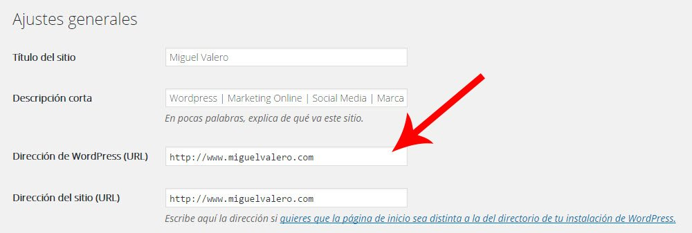 Cambio de http a https wordpress
